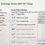 Installing Exchange Server 2007 roles, GUI vs Command Line