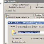 Exchange Server 2010 Database Names