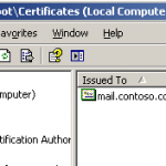 Migrate SSL Certificates from Exchange Server 2003 to Exchange Server 2007