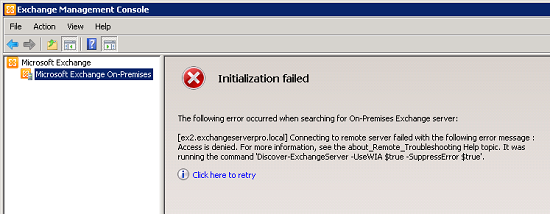 Exchange 2010 management console initialization failed - Exchange management console ...
