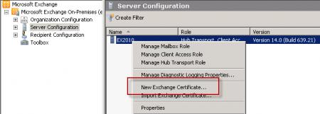 Configure an Exchange Server 2010 SSL Certificate