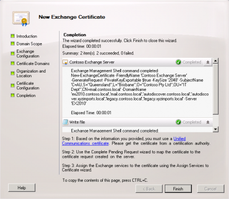 Configure an Exchange Server 2010 SSL Certificate