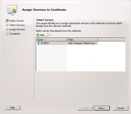 Configure an exchange server 2010 ssl certificate choose the services to assign to the certificate in this example the iis and smtp services are being assigned yadclub Image collections