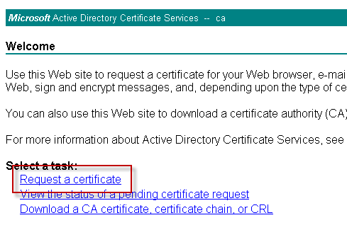 How to issue a san certificate to exchange 2010 from a private ca choose advanced certificate request yelopaper Choice Image