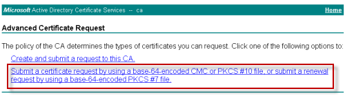 How to issue a san certificate to exchange 2010 from a private ca paste the generated certificate request data into the form and choose web server as the certificate template click submit to continue yadclub Gallery