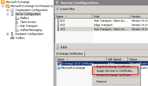 How to Assign an SSL Certificate to Exchange Server 2010 Services