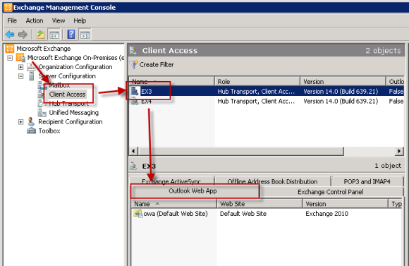 Exchange server 2010 outlook web app authentication settings - Office 365 server settings for outlook 2010 ...