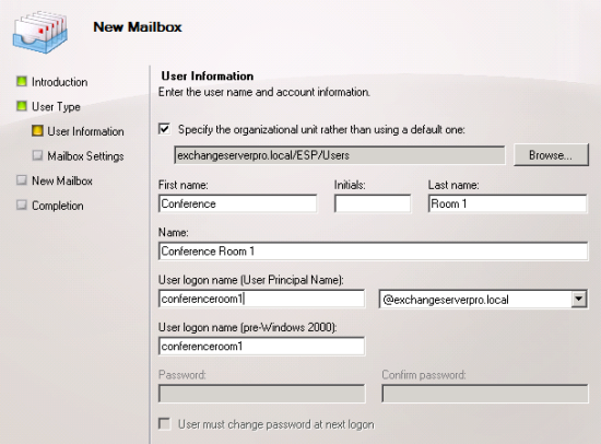 Exchange Server 2010 Room Mailboxes Step by Step Guide