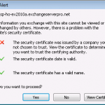 Autodiscover and SSL Warnings during Exchange 2010 Migration
