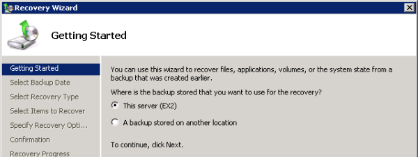 Restore an Individual Exchange 2010 Mailbox with Windows