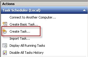 Create a new Scheduled Task