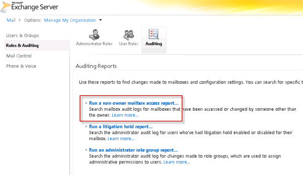 Exchange Server 2010 Mailbox Audit Logging Guide