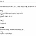 How to Publish POP3 Client Settings to Users with Exchange 2010 SP1