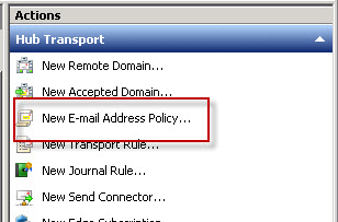 New Email Address Policy