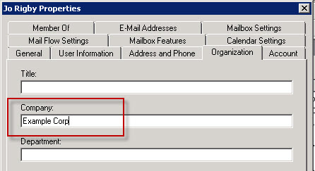 Modifying recipient properties to trigger email address policies