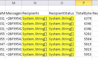 The Export-CSV System.String problem