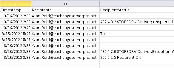 Correct Recipient and RecipientStatus output