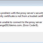 Outlook 2013 SSL Trust Errors When Connecting to Exchange Server