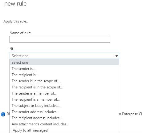 Exploring Transport Rules in Exchange Server 2013