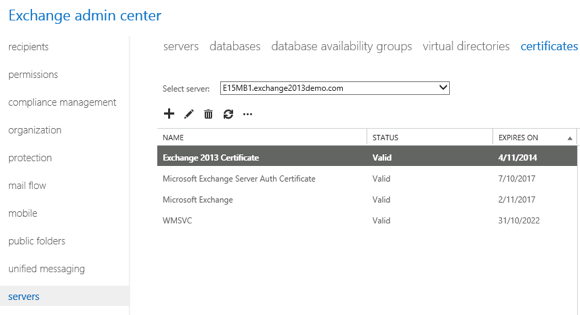 Exchange 2013: Assign SSL Certificates to Exchange Services