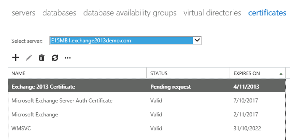 Exchange 2013: Create an SSL Certificate Request