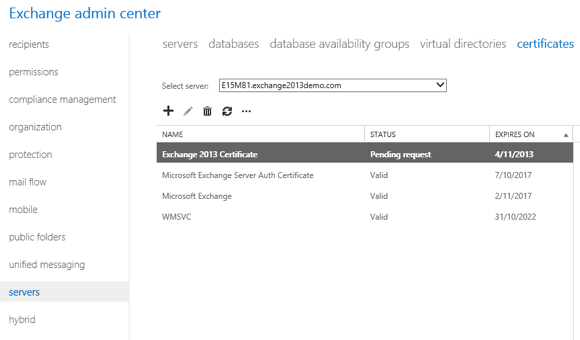 Exchange 2013: How to Complete a Pending SSL Certificate Request