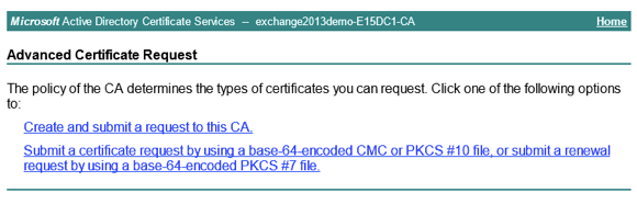Issue an ssl certificate for exchange 2013 from a private ca submit yelopaper Gallery
