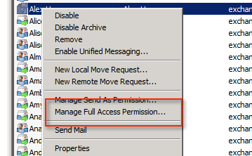how to grant read only access to an exchange mailbox or