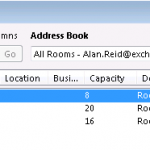 Show the Features of Room and Equipment Mailboxes using the Resource Schema