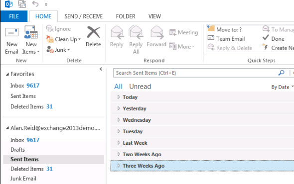 Restoring a Mailbox from an Exchange Server 2013 Recovery