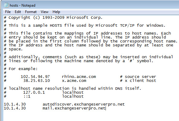 exchange-2013-test-user-hosts-file
