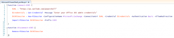 connect-office-365-powershell-profile-function