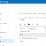 Disable Exchange ActiveSync Mobile Device Management for End Users