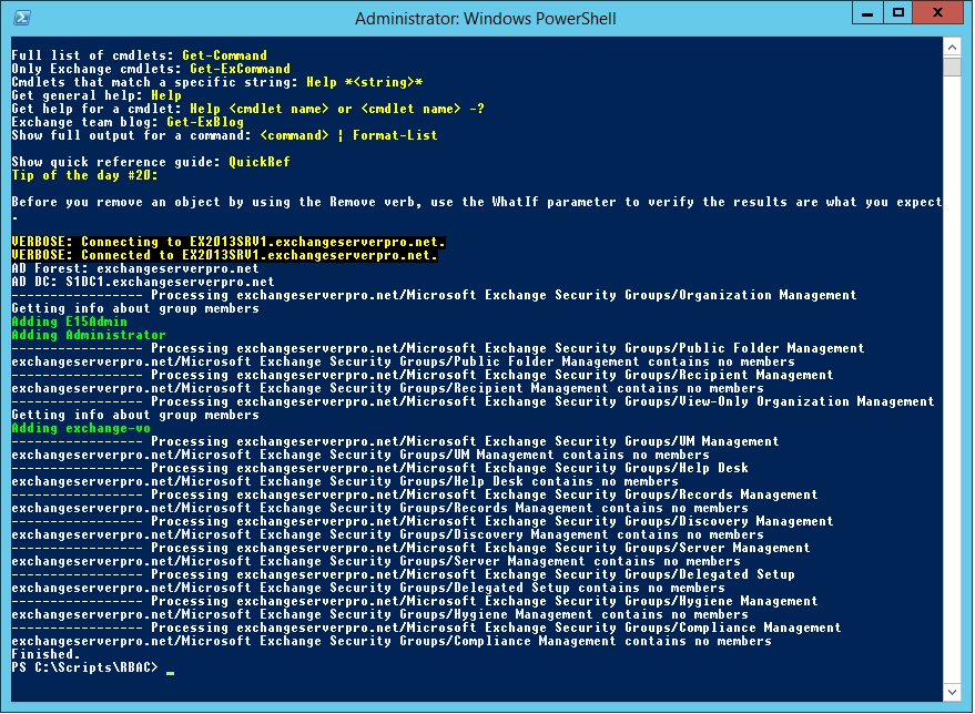 how to run exchange powershell script from cmd