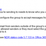 Office 365: Delivery Has Failed to These Recipients or Groups