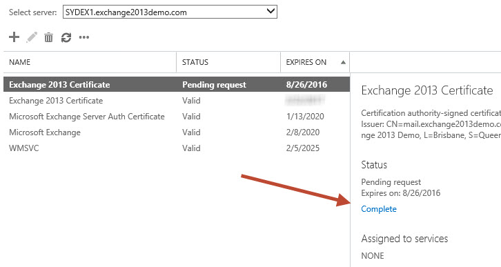 Exchange server 2013 renewing an ssl certificate exchange 2013 ssl renewal 03 yadclub Gallery