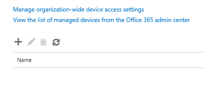 Office 365 Mobile Device Management - Device Policies