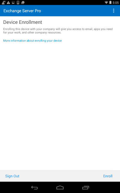 Office 365 mobile device management enrolment for android - Office for mobile devices ...