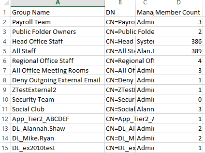 Get Distribution Group Member Counts with PowerShell