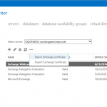 Exporting and Importing Exchange Server 2016 SSL Certificates