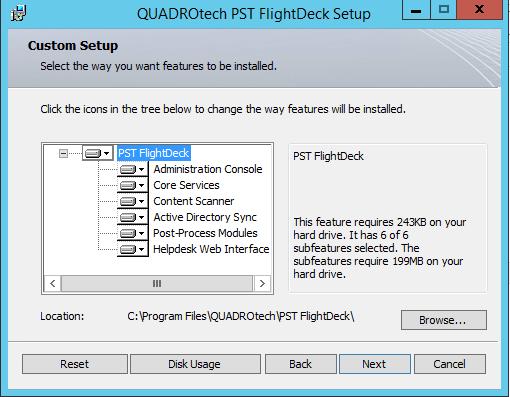 QUADROtech PST Flightdeck installation