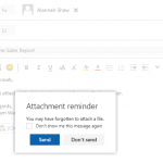 How to Restore the Forgotten Attachment Warning in Outlook on the Web