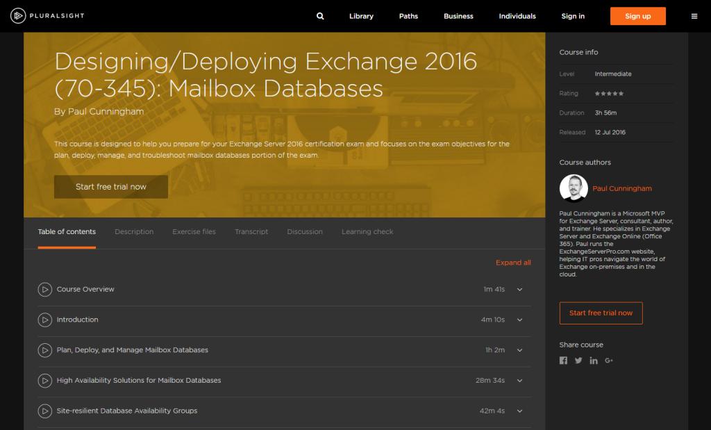 pluralsight-70-345-mailbox-databases