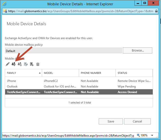 How to Unblock a Mobile Device in Exchange Server