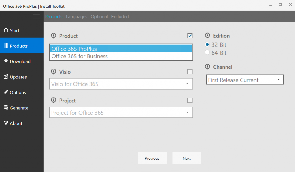 Creating an Office 365 Client Application Installer Using