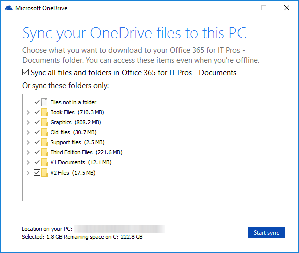 onedrive-sync-select-files