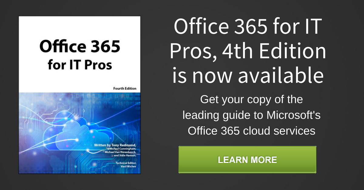 Office 365 for it pros 4th edition is now available fandeluxe Choice Image
