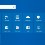Apps shown on the Office 365 home page