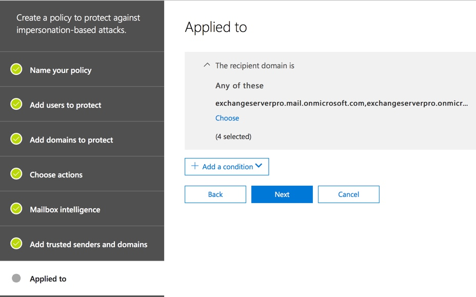 Office 365 Advanced Threat Protection Anti-phishing Policies