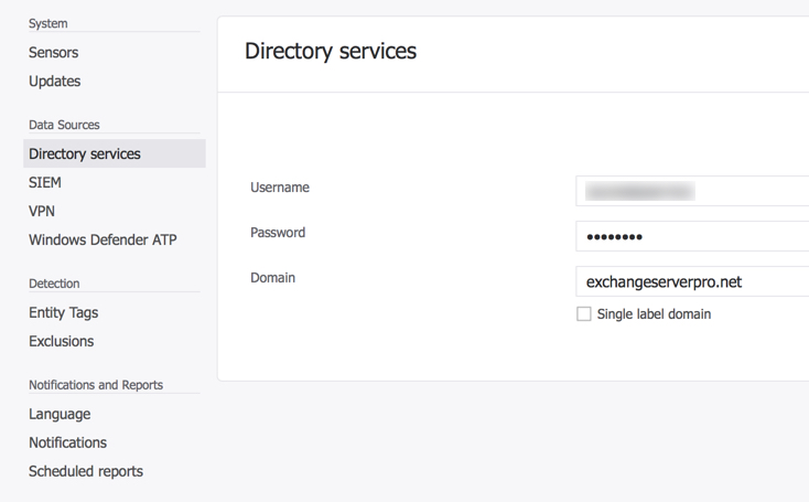 Azure ATP service account configuration